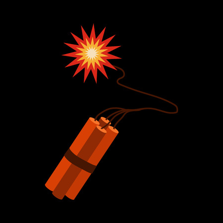 dinamita: icono plana dinamita
