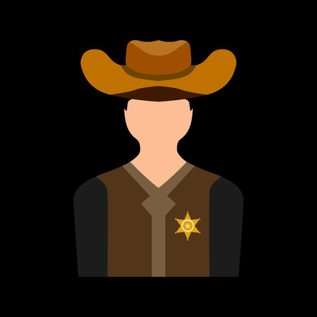 sheriff: sheriff flat icon