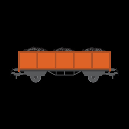 freighter: freight car flat icon Illustration