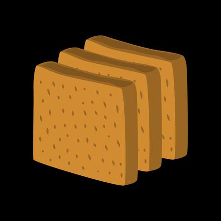 loaf: long loaf flat icon Illustration