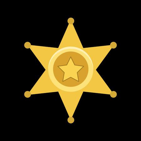 sheriff badge flat icon Illustration