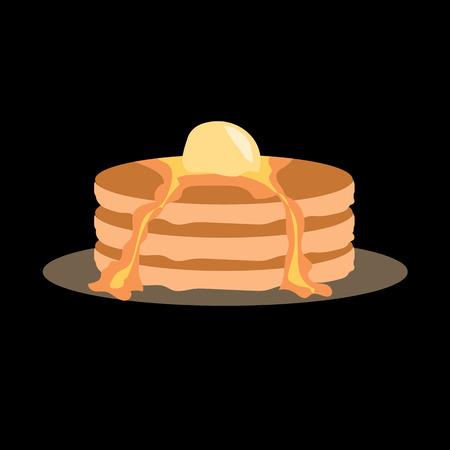 pancakes flat icon