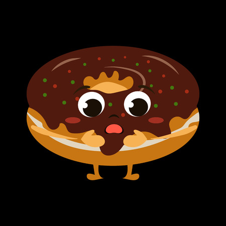 good friends: animated food flat icon