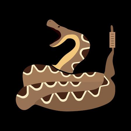 blooded: desert snake flat icon Illustration