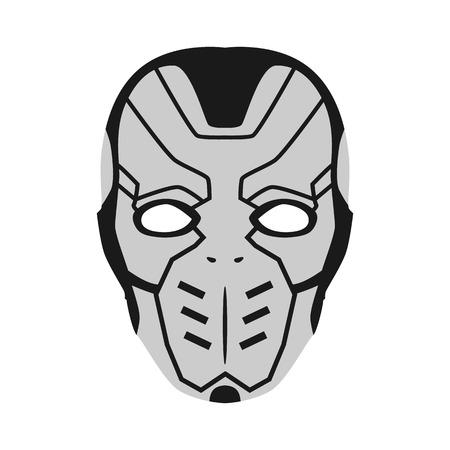 ranger: mask of superhero flat icon