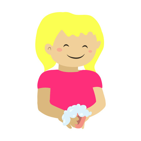 wash hands flat icon Illustration