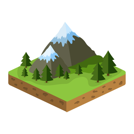 terrain: relief isometric flat icon
