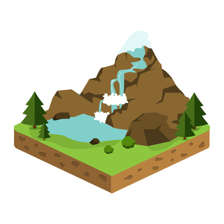 geological: relief isometric flat icon
