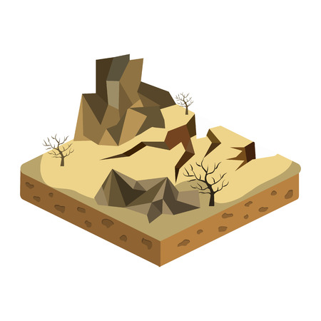 relief isometric flat icon