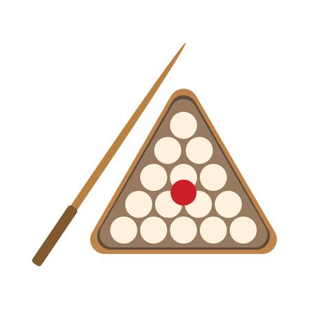 billiards flat icon