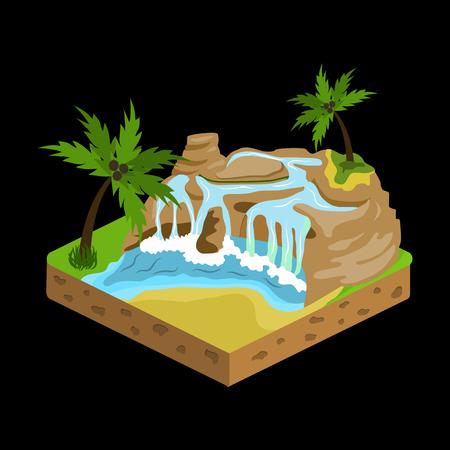 model kit: relief isometric flat icon