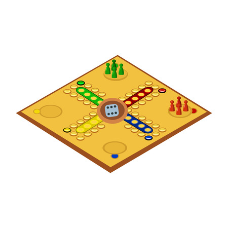 snakes and ladders: board games flat icon Illustration
