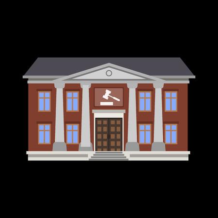 courthouse: courthouse flat icon