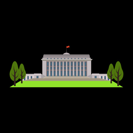 congress: government flat icon Illustration