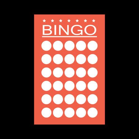 Bingo kaart platte pictogram Stockfoto - 70385721