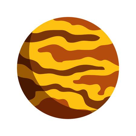 yellow adventure: planet flat icon