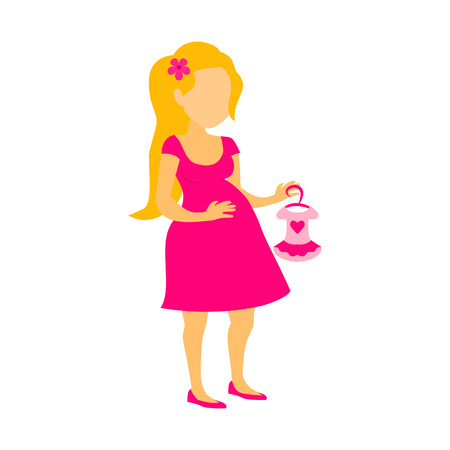 gestational: pregnant woman flat icon