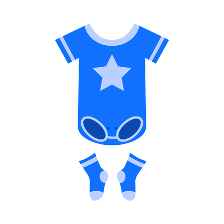 baby clothes flat icon Illustration