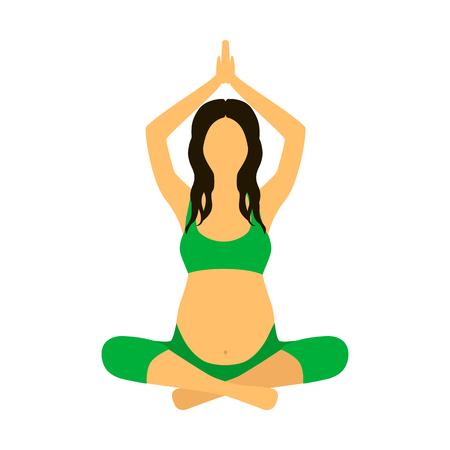 pregnant woman flat icon