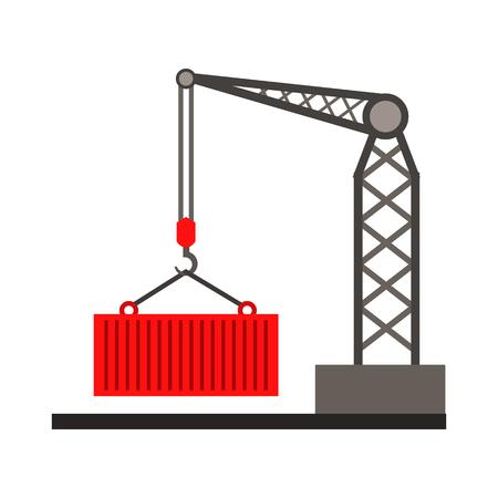 rope bridge: Truck crane flat icon