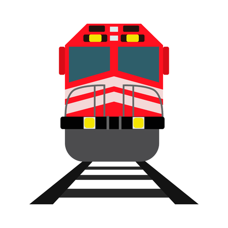 high speed train: train flat icon