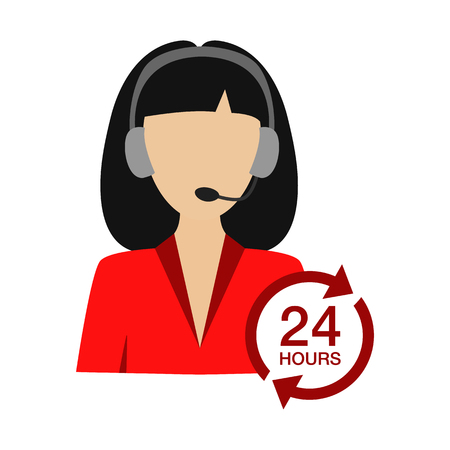 contact center flat icon Illustration