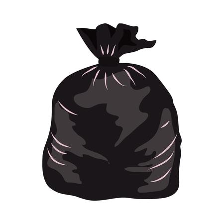 Garbage bag flat icon