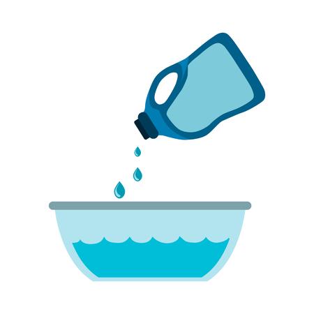 dishwashing liquid: Detergent flat icon