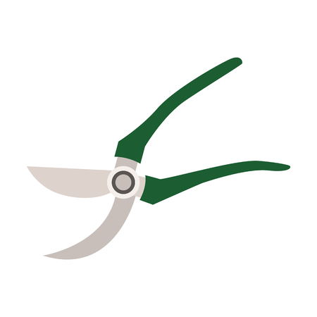 grass blades: Garden equipment flat icon.