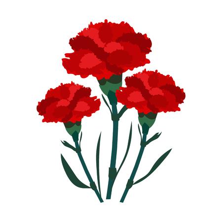 Kwiatowa ikona płaska.