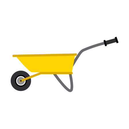 Garden equipment flat icon.