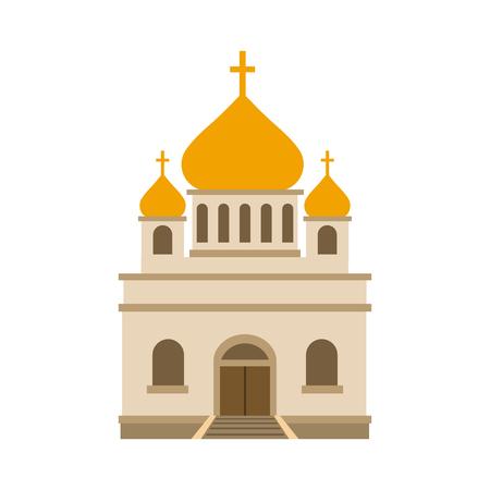 in monastery: Orthodox church flat icon