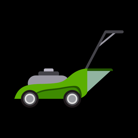 Garden equipment flat icon Illustration
