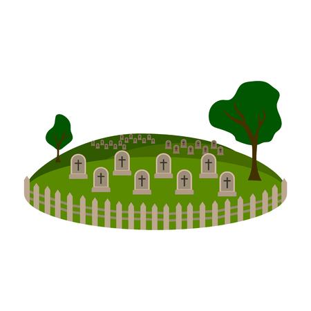 Grafisch pictogram van de begraafplaats