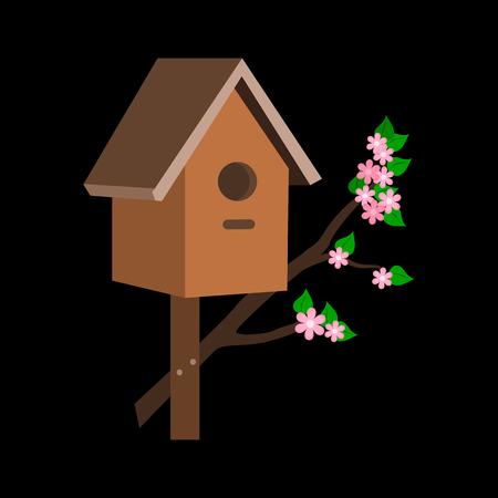 Birdhouse flat icon Stock Vector - 76540099