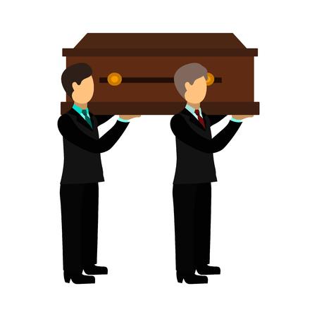 coffin flat icon Vetores