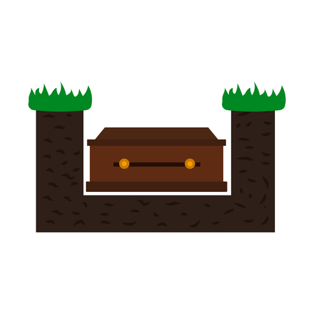 dying: coffin flat icon