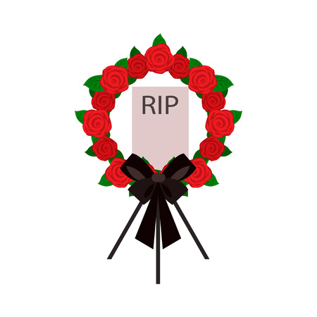 Funeral belief flat icon