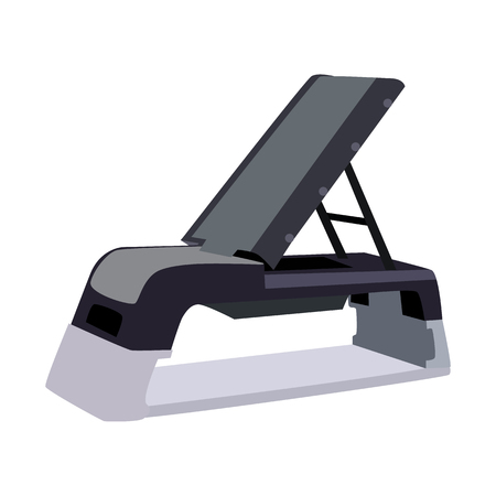 gym equipment: sport equipment flat icon Illustration