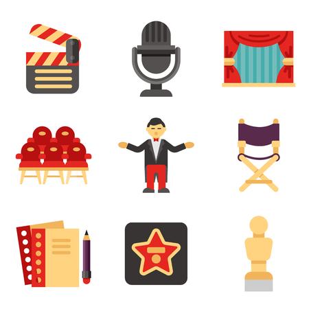 show business icon set Vector Illustratie