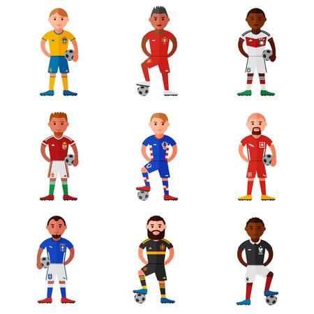 spaniards: football teams flat icon