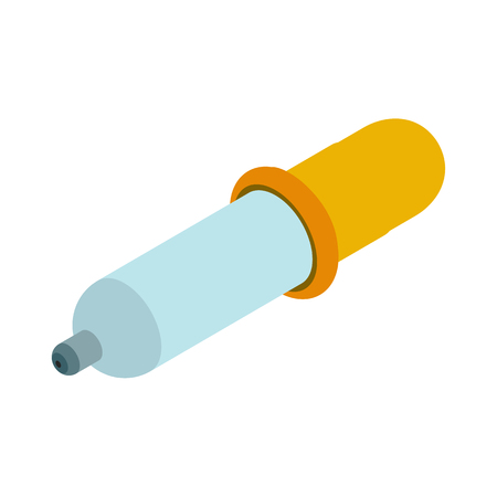 eye drops: Pipette isometric icon. Illustration