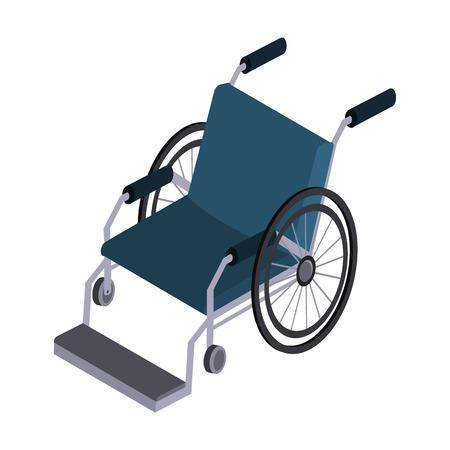 Wheelchair isometric icon.