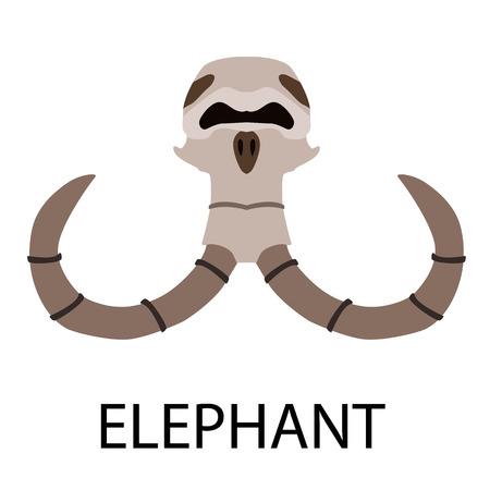 Ensemble d'icônes plat de crânes d'animaux Vecteurs