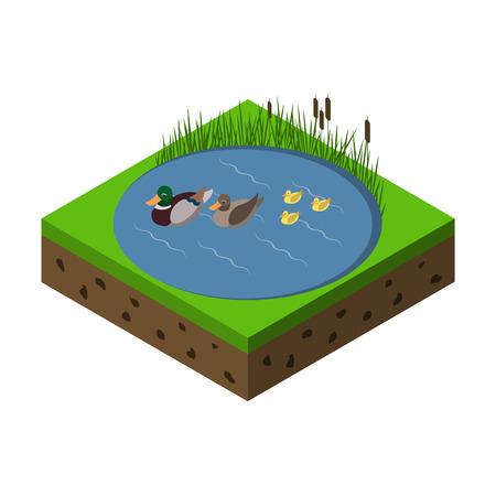 espantapajaros: Icono de la granja isométrica Vectores
