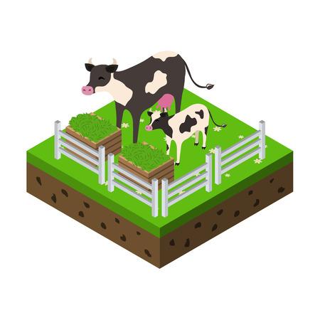 farm isometric icon