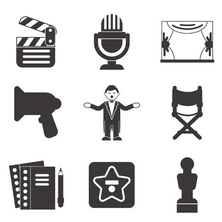 show business icon set Stock Illustratie
