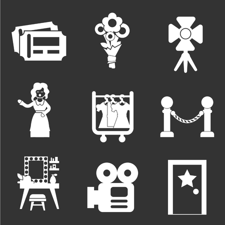 show business icon set Stock Vector - 82111772