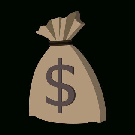 Money bag isometric icon