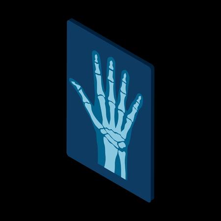 Radiograph isometric icon